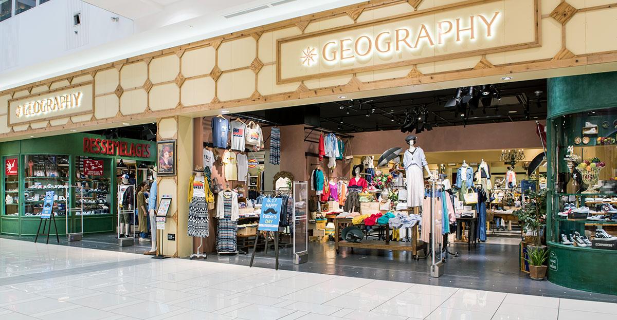 YAMATOKORIYAMA | イオンモール大和郡山店 | SHOP LIST | GEOGRAPHY