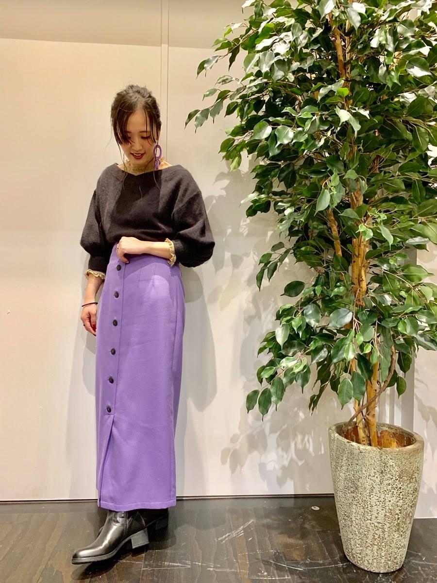 イオンモール 橿原店 【SNIDEL】フロントボタン タイトスカート