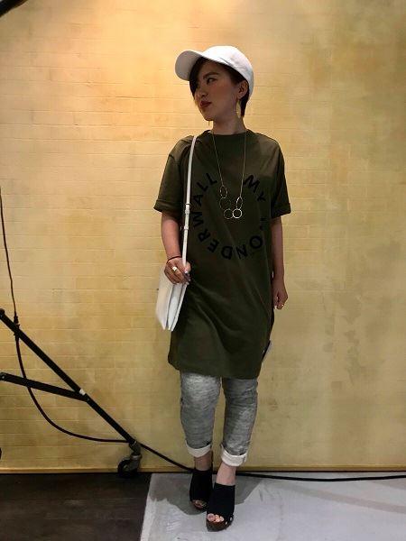 草津店 AGNOST ロゴチュニックTシャツ