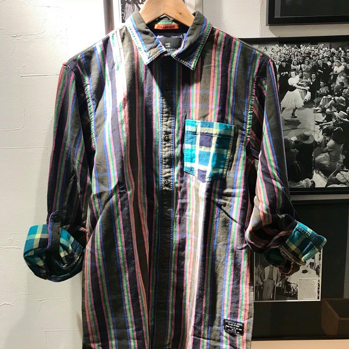 草津店 【SCOTCH&SODA/スコッチアンドソーダ】292-71453(148883)マルチカラーチェックシャツ ¥16,000+tax
