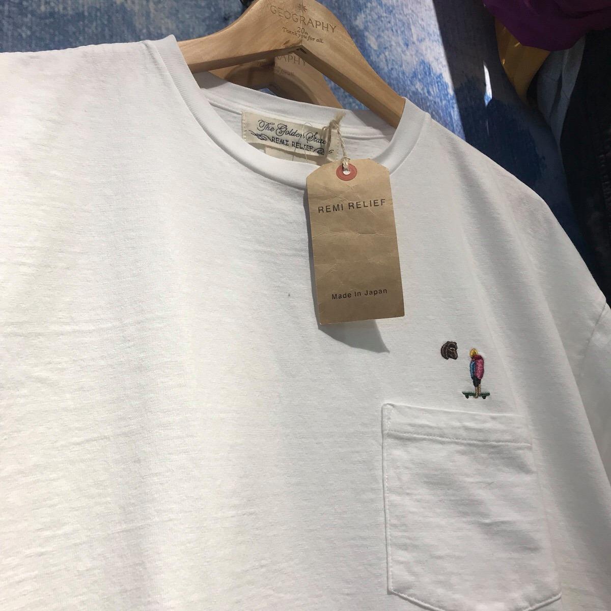 草津店 【REMI RELIEF/レミレリーフ】RN18249131 bear刺繍天竺半袖Tシャツ ¥8,800+tax