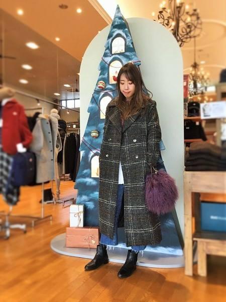 豊中緑ヶ丘店 【EMODA】ロングウールコート